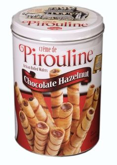 Pirouline Rolled Wafers Chocolate Hazelnut 32Ounce Cans Pack of 2 -- Want additional info? Click on the image.