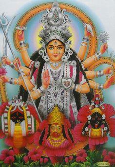 Maa Durga Photo, Maa Durga Image, Durga Maa, Durga Goddess, Krishna Hindu, Hindu Deities, Hinduism, Mother Kali, Mother Goddess