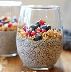 Cha-cha-cha CHIA seed pudding for breakfast today! My basic recipe Maple Vanilla is a staple in our fridge! You can mix it up however you like! We like fresh berries + crunchy granola on top of ours! What's your favorite combo? #CleanEats also THANK YOU all for the sweet birthday messages yesterday recipe link in profile above