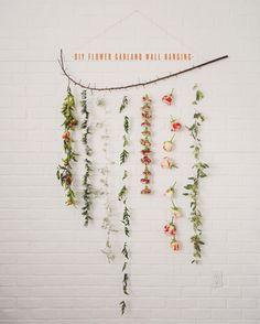 DIY: flower garland wall hanging
