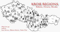 kroje regions European Countries, Czech Republic, Ancestry, Family History, Geography, Old Things, Country, Ethnic, Education