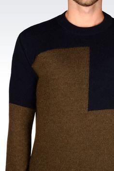 Emporio Armani Men Crewneck Sweater - SWEATER IN VIRGIN WOOL Emporio Armani  Official Online Store Armani 2bfbe44093