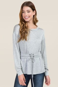 Bailie Corset Waist Sweatshirt