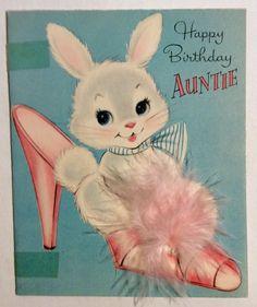 NORCROSS Adorable Sweet Bunny Pink Slipper 1950's Vintage Birthday Greeting Card Retro Birthday, Vintage Birthday Cards, Vintage Greeting Cards, Birthday Greeting Cards, Birthday Greetings, Happy Birthday, Birthday Stuff, Birthday Wishes, Vintage Easter