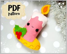 This is a digital tutorial on how to make the Candle Christmas ornament from felt  Included step by step instructions, pictures and full size pattern pieces. (no need to enlarge or resize). Its completely hand sew and you dont need a sewing machine.  THIS IS NOT A FINISHED TOY. THIS IS A PDF