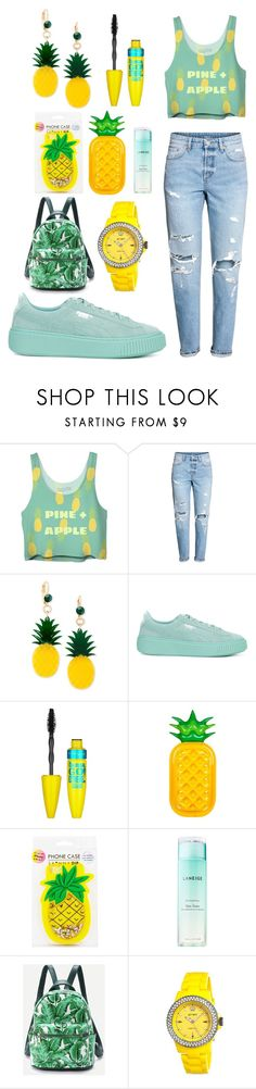 """😎😍"" by zarubino15 ❤ liked on Polyvore featuring Celebrate Shop, Puma, Maybelline, Sunnylife, Skinnydip, Laneige and Jet Set"
