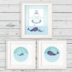 "Nautical Blue Whale Wall Art, Instant Download, SET OF 3, 11""x14"" & 10""x10"", Nursery Children Print by LlamaCreation on Etsy https://www.etsy.com/listing/199106872/nautical-blue-whale-wall-art-instant"