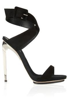 Giuseppe Zanotti Metal Heel Black Suede Sandals 2013 #Shoes #High #Heels