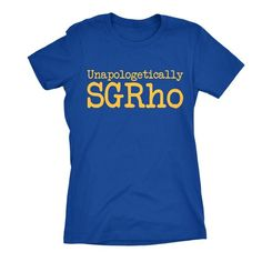 adverb: unapologetically -in a manner that does not acknowledge or express regret for being a sister of the Sigma Gamma Rho sorority. - CREW NECK - 100% COTTON - PREMIUM FITTED - COLOR - ROYAL BLUE - AVAILABLE IN WIDENECK SWEATSHIRT *PRODUCTS SHIP AFTER 10 BUSINESS DAYS* VIEW SIZE CHART