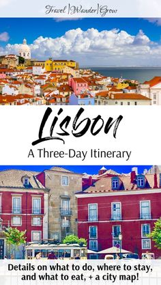 Lisbon is a beautiful coastal town with winding pathways and impressive views. This city itinerary will tell you what things to do in Lisbon, including seeing Alfama, which restaurants to visit, and where to stay in the city. Additionally, this article includes a city map so that you can navigate to where you want to go! #lisbon