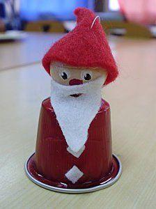 Cutest Santa ever Christmas Makes, Noel Christmas, Christmas Crafts For Kids, Xmas Crafts, Christmas Decorations, Christmas Ornaments, K Cup Crafts, Diy And Crafts, Santa Crafts