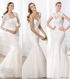 Pronovias 2014 Pre-Collection Wedding Dresses - Fashion Bridal Collection. #lace #wedding