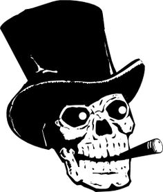 4e4b751e16 Skull With Top Hat And Ccigar clip art Skull And Crossbones