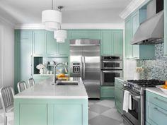 cuisine decoration vinatge idee couleur verte