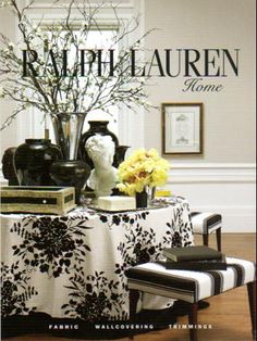Ralph Lauren Home...black / white! PacificHeightsPlace.com