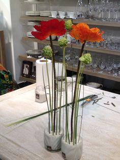 Taller de arreglos florales en la Boutique de Sia Madrid, Noviembre 2012