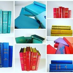 Fabulous vintage decorative book sets.  #vintage #interiordesigner #booksanddesign #decorativebooks #bookshelf