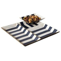 calypso stripe serving tray