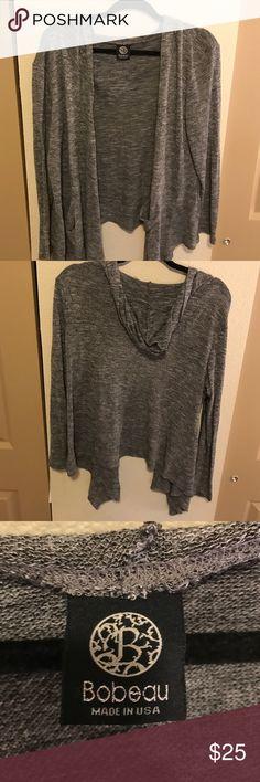Bobeau sweater Super cute! Great shape, grey. Nordstrom Sweaters Cardigans