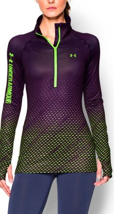 A fun print to accompany you on your runs   Under Armour® Printed ColdGear® Cozy Pullover