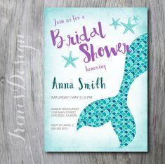Nautical Mermaid Princess Bridal Wedding Shower by irinisdesign