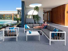 SEVILLA Lounge Fußhocker für Gartenset Exotan | Weiß & Taupe ...