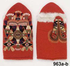 Amazing Swedish mittens Digital Museum Knit Mittens, Mitten Gloves, Scandinavian Embroidery, Digital Museum, Textiles, Winter Accessories, Textile Art, Floral Design, Crafty