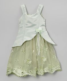 Loving this Sage Floral Layered Dress - Infant, Toddler & Girls on #zulily! #zulilyfinds