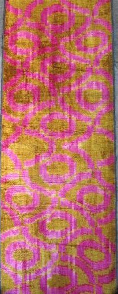 Nuevo YUNER / terciopelo de seda tejido ikat uzbeko por YUNERSHOP, $99.50