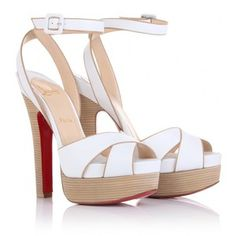 In love with these shoes! Christian Louboutin Vivaeva 160 Platform Sandals