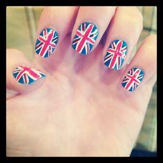 british flag nails (mine) - England/English pride