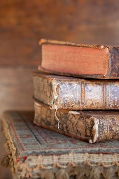 antique books bound in leather shabby chic rough luxe Old Books, Antique Books, Vintage Books, I Love Books, Books To Read, Leather Bound Journal, Leather Bound Books, Book Letters, Book Images