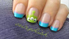 My favorite toy story aliens! I hope we can all copy these CutePolish designs on our nails! #Toystory!