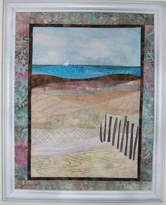 Seascape landscape quilted wallhanging.