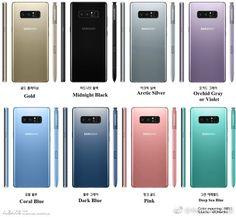 Posibles colores del Samsung Galaxy Note 8