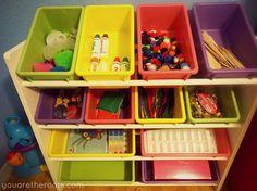 Tot School Activity Bin Set Up and Supplies