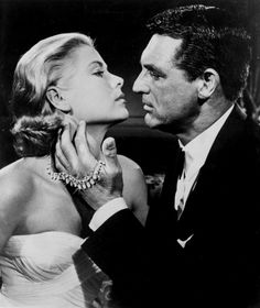 Grace Kelly and Cary Grant in Hitchcock's 'To Catch a Thief', 1955.