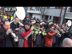 """Cortège du Carnaval de dimanche à Binche 15-02-2015 """"Télé SPI"""""""