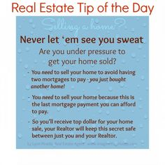 Real Estate Tip of the Day Oct 24, 2013 IYH