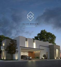 Casa LGS (do Elias Braun Architecture) Architecture Design, Modern Architecture House, Facade Design, Residential Architecture, Exterior Design, House Front Design, Modern House Design, Villa Design, Modern House Plans
