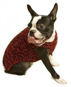 Free Knitting Pattern: Need for Tweed Dog Sweater.