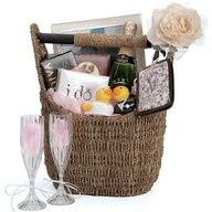 Gift Basket For Bride And Groom Wedding Night : ... love this magazine basket used as a gift basket for a bride and groom