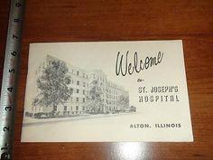 BW354-Vintage-1950s-Welcome-Guide-St-Josephs-Hospital-Alton-Illinois