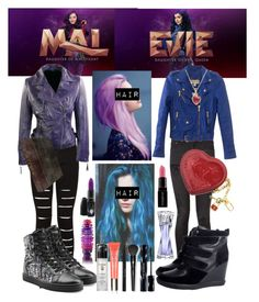 """""""Disney Descendants Mal & Evie"""" by demitaycollins ❤ liked on Polyvore"""