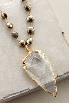 Luminous Arrowhead Necklace #anthrofave