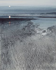 Monkstone Point from Saundersfoot by Naomi Tydeman(British) Watercolour paintings Watercolor Artists, Watercolor Landscape, Abstract Watercolor, Watercolor And Ink, Watercolor Paintings, Watercolours, Landscape Quilts, Landscape Art, Landscape Paintings