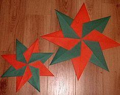 Gevouwen ster is een knutselidee uit de categorie Kerstmis