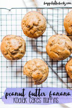 Peanut butter banana Kodiak Cakes muffins!   read more at happilythehicks.com
