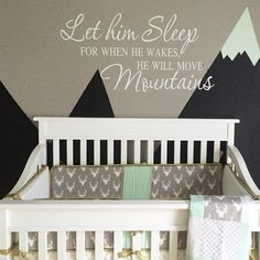 These minty tipped mountains have us all about this nursery!