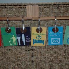 Printable chore chart tags.